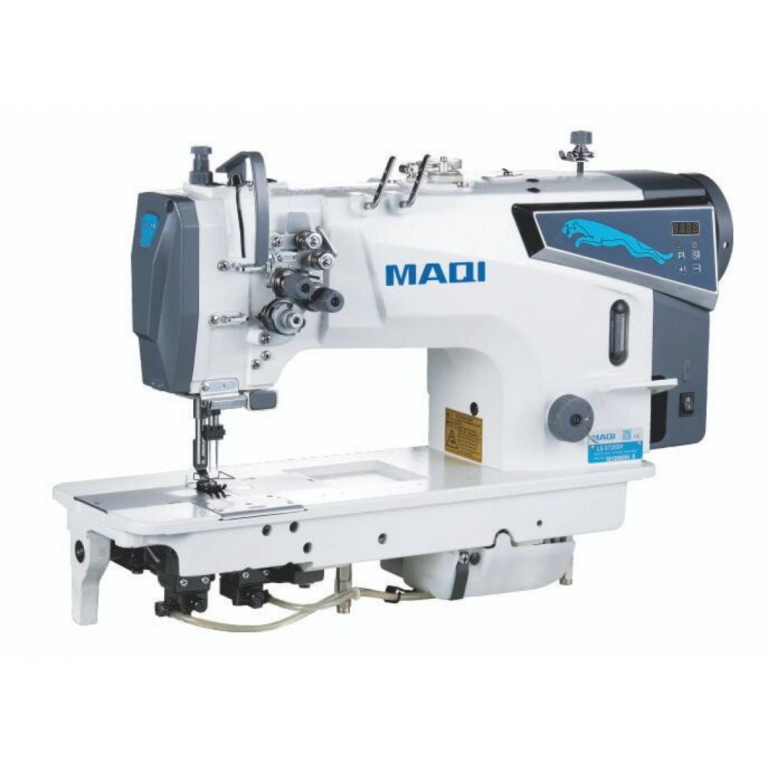 MAQI LS8750DP, промислова швейна машина човникового стібка з відключенням голок і збільшеним човником